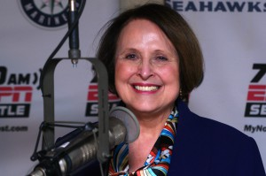 Jean Floten, WGU Washington chancellor, joins us in the studio to talk about online learning. (Erynn Rose Photo.)