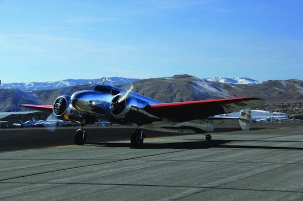The Museum of Flight's Lockheed Model 10 Electra, is restored with the colors and markings of Earhart's plane. (Image Credit: The Museum of Flight)